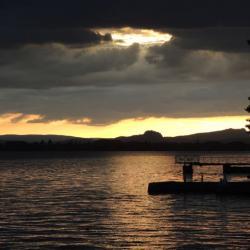 Petite vue sur le lac depuis notre terrase à Allensbach